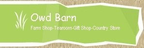 Logo tuincentrum Owd Barn farm shop, tearoom and country store
