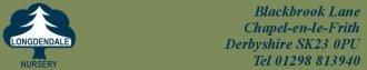 Logo tuincentrum Longdendale Nursery