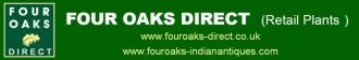Logo tuincentrum Four Oaks Direct