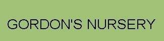 Logo tuincentrum Gordon's Nursery