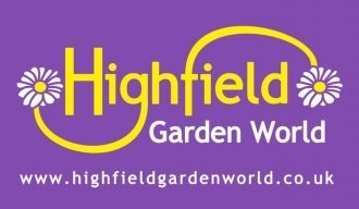 Logo tuincentrum Highfield Garden World