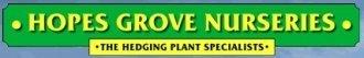 Logo tuincentrum Hopes Grove Nurseries