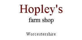 Logo tuincentrum Hopley's Farm Shop