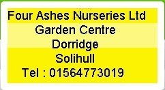 Logo tuincentrum Four Ashes Nurseries
