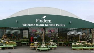 Logo tuincentrum Findern Garden Centre