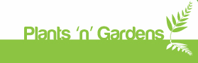 Logo tuincentrum Plants N Gardens